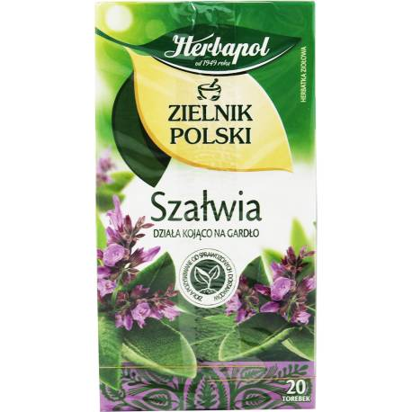 Herbata Ziołowa - Szałwia 20 Torebek Herbapol 24g