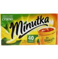 Herbata Czarna o Smaku Cytryny 40 Torebek Minutka