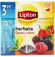 Herbata Czarna 10 Torebek Owoce Leśne Lipton