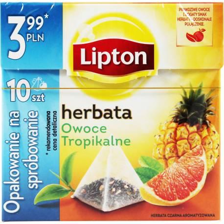 Herbata Czarna 10 Torebek Owoce Tropikalne Lipton
