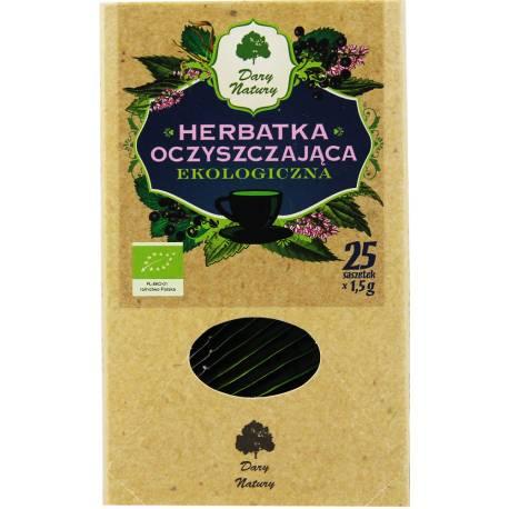 Herbatka Oczyszczająca Ekologiczna 25 Saszetek x1,5g Dary Natury