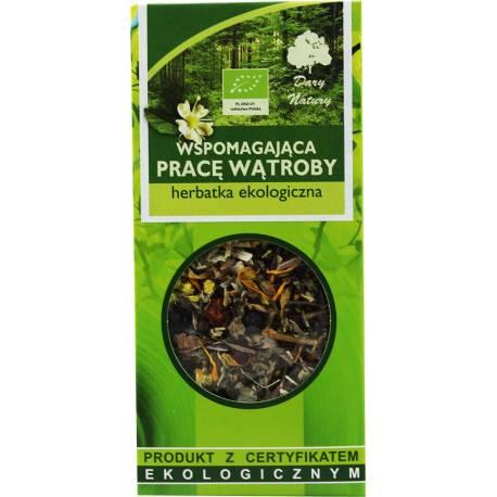 Herbata Ekologiczna 50g Dary Natury Wspomagająca Pracę Wątroby