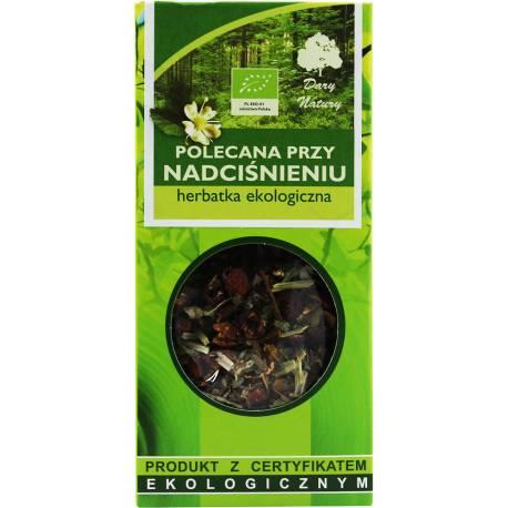 Herbata Ekologiczna 50g Dary Natury Polecana Przy Nadciśnieniu
