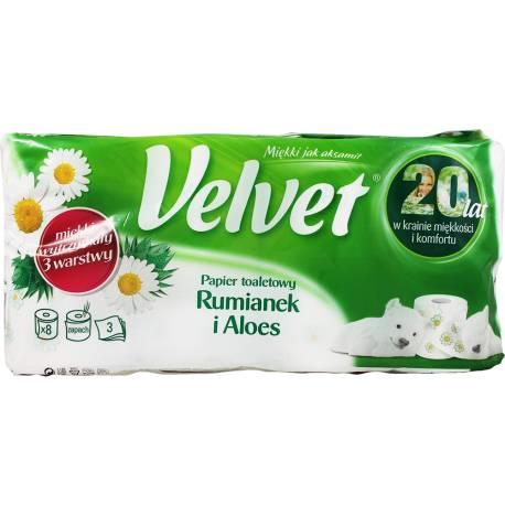 Papier Toaletowy Velvet 8 Rolek Rumianek i Aloes