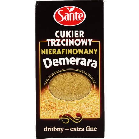Cukier Trzcinowy Nierafinowany Drobny Demerara 500g Sante