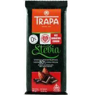 Czekolada gorzka 80% kakao ze stewią bez dodatku cukru.