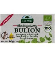 Ekologiczny bulon warzywny w kostkacg bez dodatku drożdży bezglutenowy 66g EkoWital