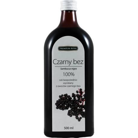 Sok z owoców czarnego bzu 100% 500ml Premium Rosa
