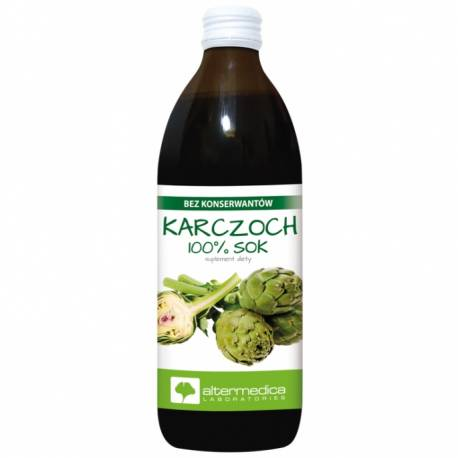 Karczoch 100% Sok 500ml Altermedica