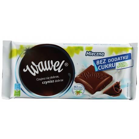 Wawel Czekolada Mleczna 100g Bez Dodatku Cukru