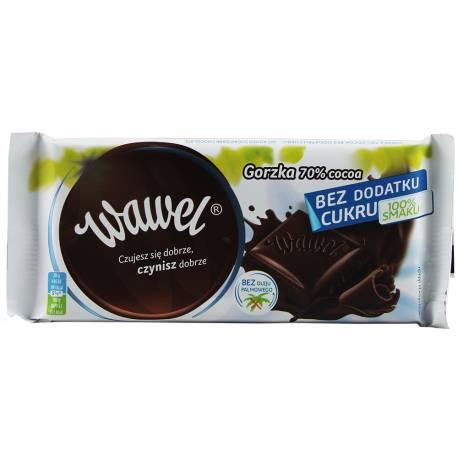 Wawel Czekolada Gorzka 70% Cocoa 100g Bez Dodatku Cukru
