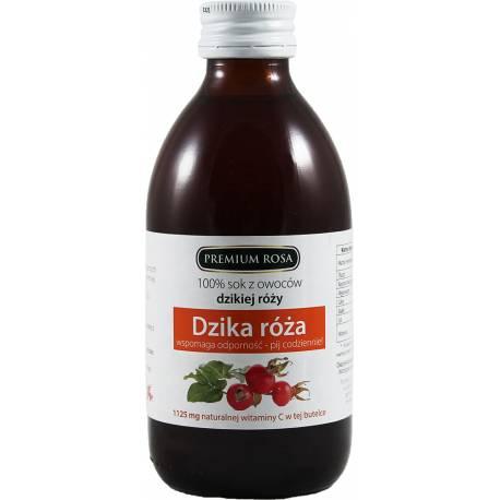 100% Sok z Owoców Dzikiej Róży 250ml Premium Rosa