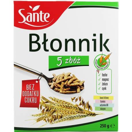 Błonik 5 zbóż 250g Sante Bez Dodatku Cukru