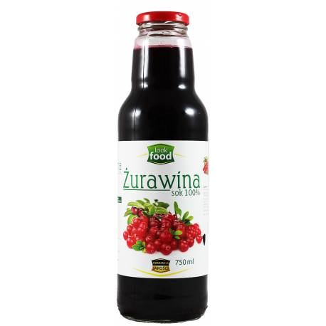 Żurawina Sok 100% 750ml LookFood