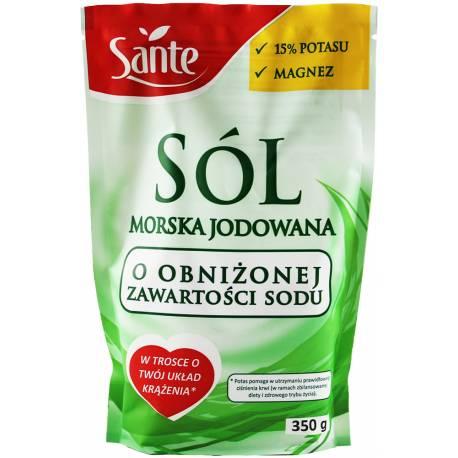 Sól Morska Jodowana O Obnizonej Zawartości Sodu 350g Sante