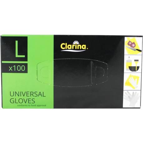 Rękawice Uniwersalne 100 sztuk Clarina