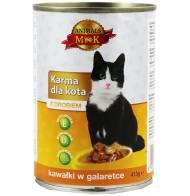 Karma dla kota z drobiem 415g Animals MK
