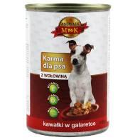Karma dla psa z wołowiną 415g Animals MK