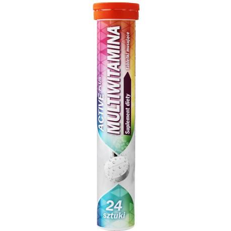 Tabletki musujące Active Plus Multiwitamina 24 sztuki