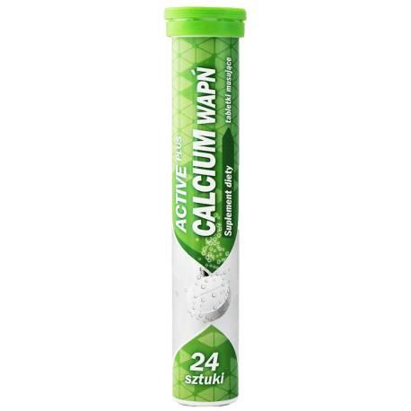Tableki musujące Active Plus Calcium Wapń 24 sztuki