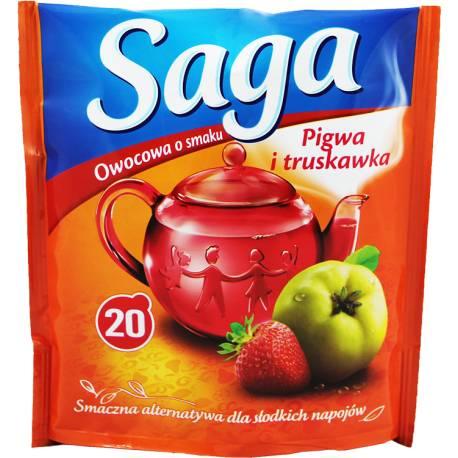 Herbata Saga Owocowa Pigwa i Truskawka 20 torebek