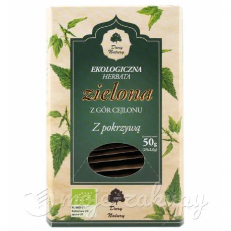 Herbata zielona Cejlońska z pokrzywą 25x2g Dary Natury