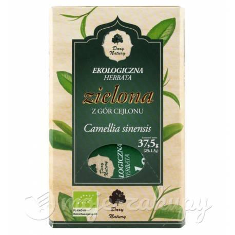 Herbata zielona Cejlońska 25x1,5g Dary Natury