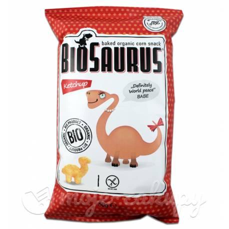 Ekologiczne chrupki kukurydziane Biosaurus ketchupowe 50g McLLoyd's