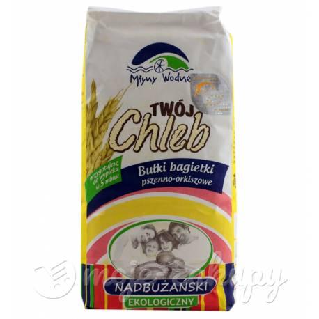 Twój chleb ekologiczna mieszanka pszenno-orkiszowa 1kg Młyny Wodne