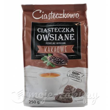 Ciasteczkowo Ciasteczka owsiane kakaowe listki Sante 250g