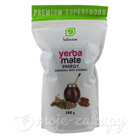 Yerba mate z guaraną i żeń-szeniem 150g Intenson