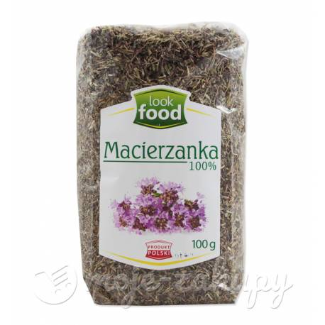 Macierzanka suszona 100% 100g Look food
