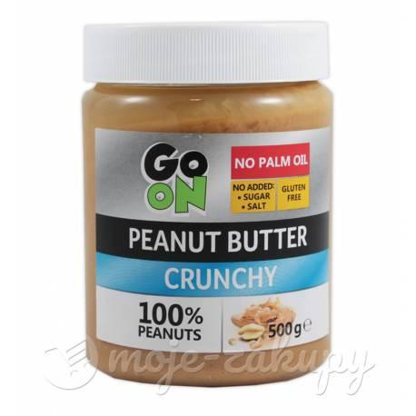 Masło orzechowe 100% z kawałkami orzechów 500g Go On