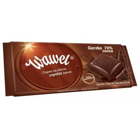 Czekolada gorzka 70% cocoa WAWEL 100g