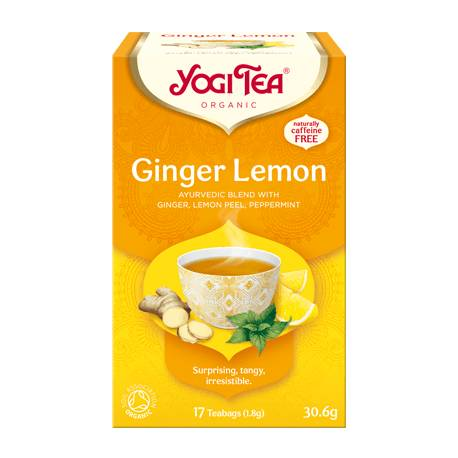Ginger Lemon YogiTea Ajurwedyjska herbata z ziół 30,6 g