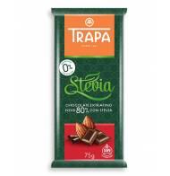Czekolada gorzka 80% kakao ze stewią bezglutenowa Trapa 75g