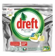 DREFT PLATINUM kapsułki do zmywarki Lemon 22szt DE