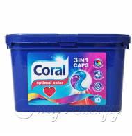 Coral kapsułki do prania 3in1 Optimal Color 18 prań