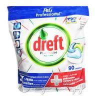 Dreft Platinum all in one kapsułki do zmywarki 90szt DE