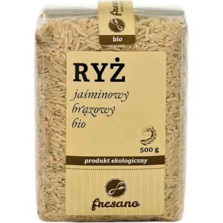 Ryż jaśminowy brązowy BIO 500g FRESANO