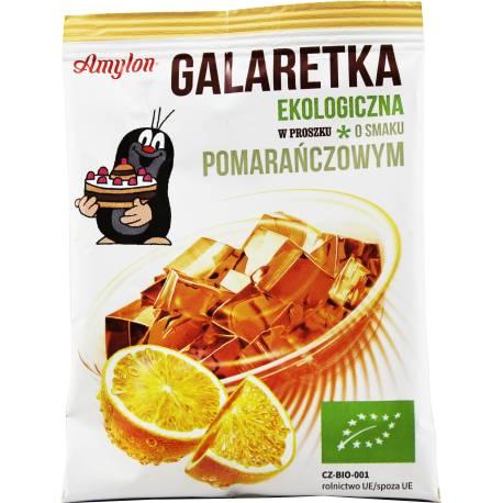 Galaretka Ekologiczna Amylon 40g Pomarańczowa